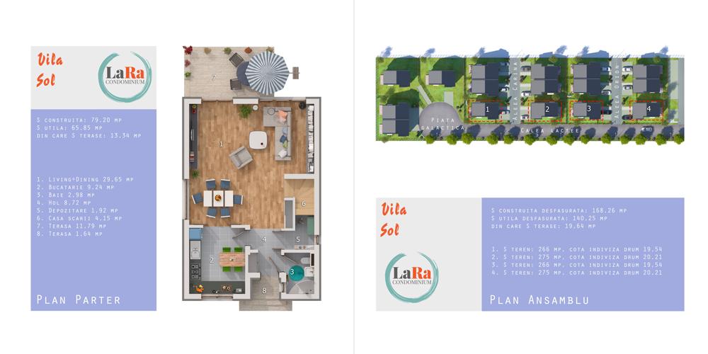 Vila Sol Parter LaRa Condominium