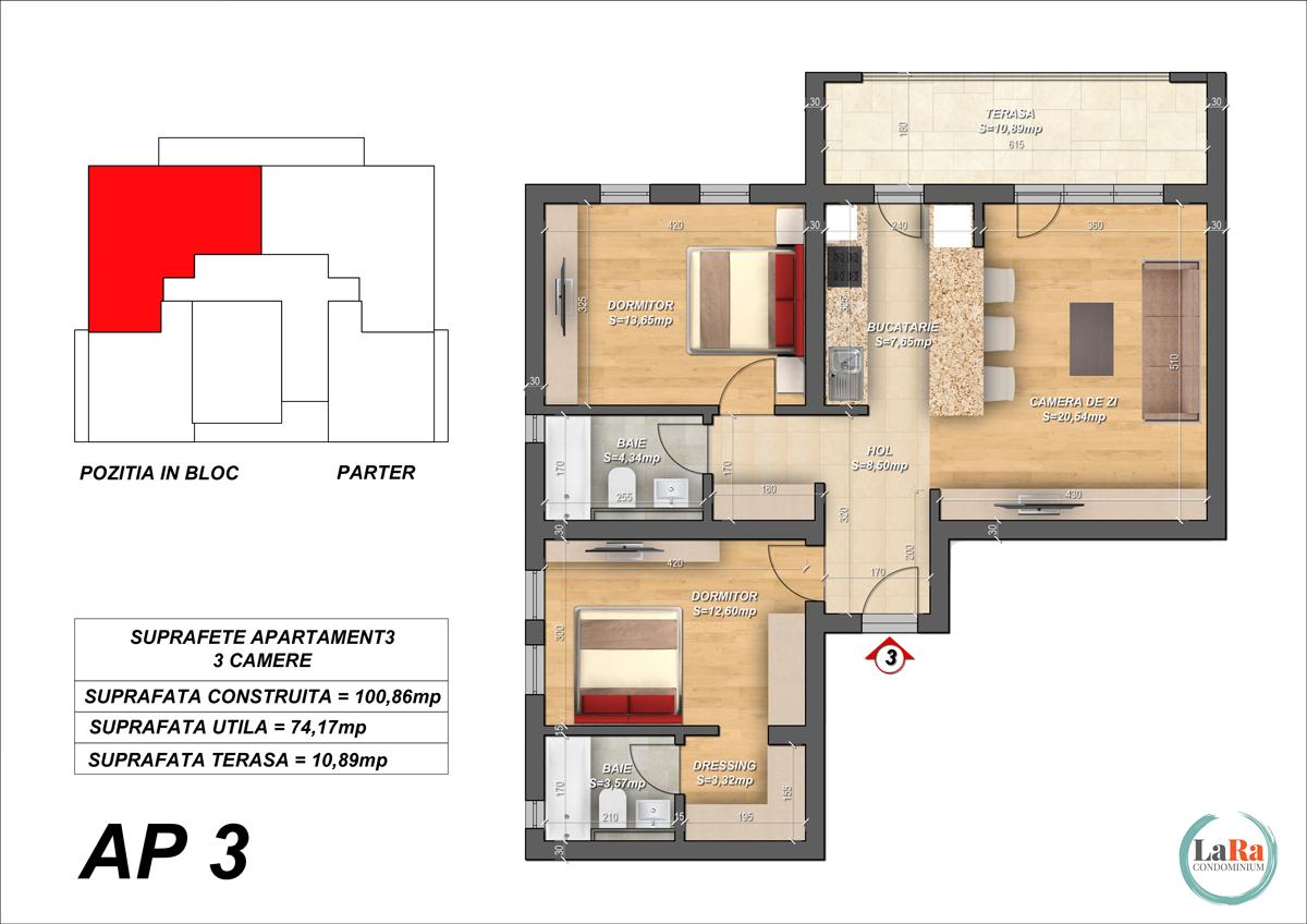 Plansa-Apartament-3-Faza-1-2-LaRa-Condominium